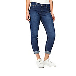 Wallis - Mid wash scarlett roll up jeans