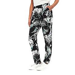 Wallis - Black palm print jogger