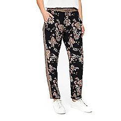 Wallis - Black paisley print trousers