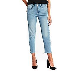 Wallis - Light blue straight crop jeans