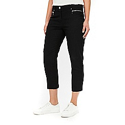 Wallis - Black stretch crop trousers