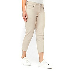 Wallis - Stone stretch crop trousers
