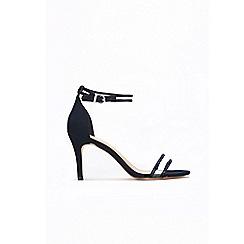 Wallis - Navy perspex and diamante ankle strap sandal