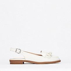 Wallis - White Ruffle Detail Slingback Shoes