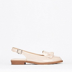 Wallis - Stone Ruffle Detail Slingback Shoes