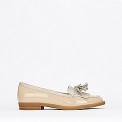 Wallis - Stone Tassel Detail Patent Loafers