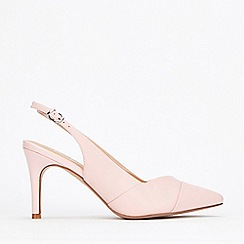 Wallis - Pale Pink Slingback Stiletto Court Shoes