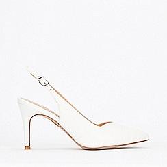 Wallis - White Slingback Stiletto Court Shoes