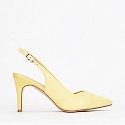 Wallis - Yellow Slingback Stiletto Court Shoes