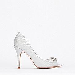 Wallis - Silver Peeptoe Court Shoes