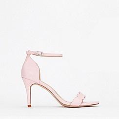 Wallis - Pale Pink Scalloped Sandal