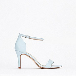 Wallis - Light Blue Scalloped Sandal