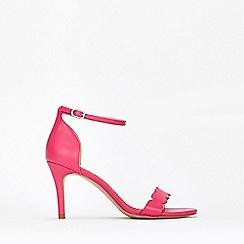 Wallis - Bright Pink Scalloped Sandal