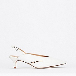 Wallis - White Slingback Court Shoes