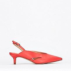 Wallis - Coral Slingback Court Shoes