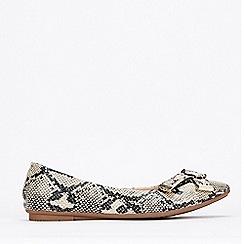 Wallis - Stone Ballerina Shoes