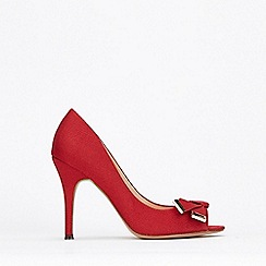 Wallis - Red Peeptoe Folded Trim Court Shoes