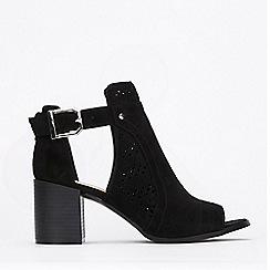 Wallis - Black Laser Cut Shoe Boots