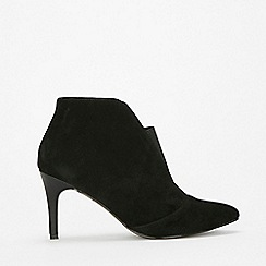 Wallis - Black elastic pointed boots