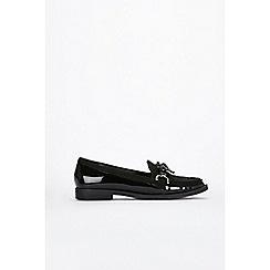 Wallis - Black bow detail loafers