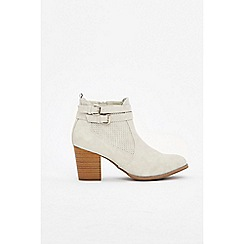 Wallis - Light grey two strap ankle boots