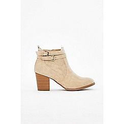 Wallis - Stone two strap ankle boots