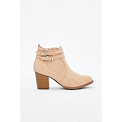 Wallis - Pale pink two strap ankle boots