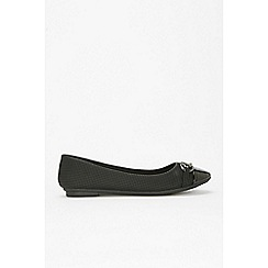 Wallis - Black toecap detail ballerina shoes