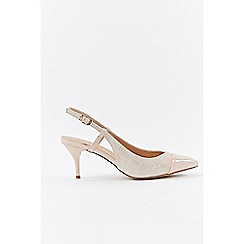 Wallis - Stone slingback court shoes