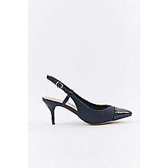 Wallis - Navy slingback court shoes