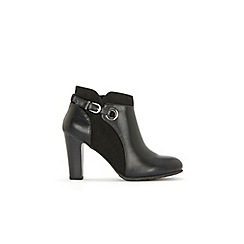 Wallis - Black buckle and eyelet detail boots