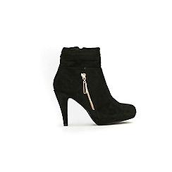 Wallis - Black zip ruched platform boots