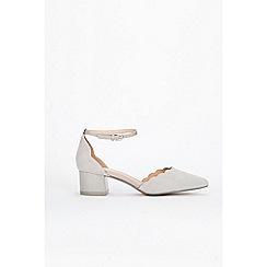 Wallis - Grey low block heel court shoes