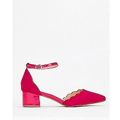 Wallis - Pink Low Block Heel Court Shoe