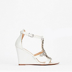 Wallis - Pink Jewelled Wedge Sandal