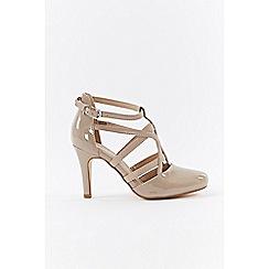 Wallis - Stone multi strap court shoes