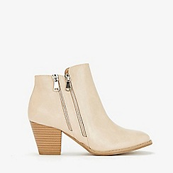 Wallis - Stone double side zip ankle boots