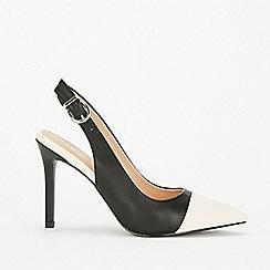 Wallis - Black toecap high heel court shoes