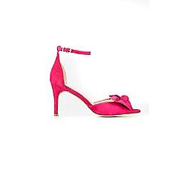 Wallis - Pink bow ankle strap sandal