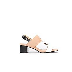 Wallis - Camel circle trim two band sandals