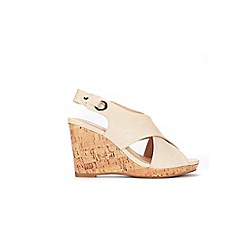 Wallis - Camel cross strap cork cover wedge