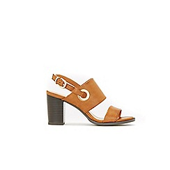 Wallis - Tan eyelet detail buckle sandals