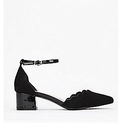 Wallis - Black Mid Block Heel Court Shoes