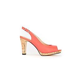 Wallis - Orange slingback platform sandals