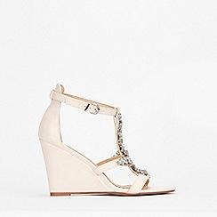 Wallis - Pale Pink Jewelled Wedge Sandal