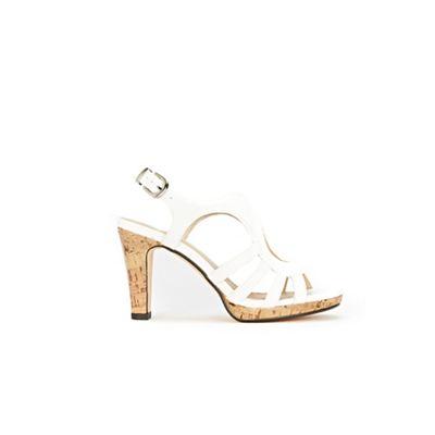 Wallis - White cork platform sandals strap sandals platform 99afc4