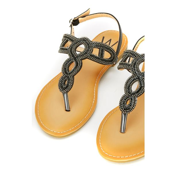 Black stud toe sandals Wallis post wX4WBd1qxd