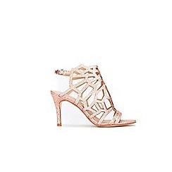 Wallis - Pale pink cage detail sandals