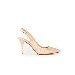 Wallis - Pink slingback sprayed heel court shoes