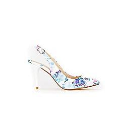 Wallis - White slingback heel court shoes